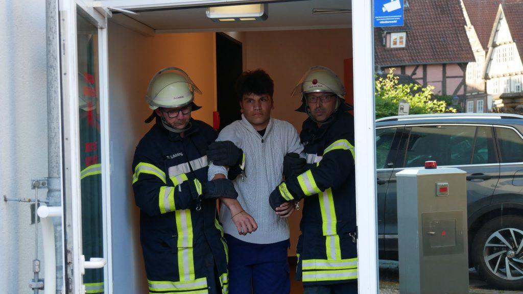 Evakuierungsübung im Intercity Hotel